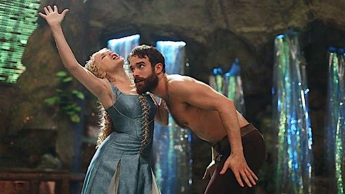 Kylie Minogue Joshua Sasse on the sets of Galavant
