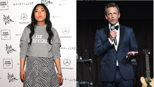 NBC Sets Awkwafina, Seth Meyers as Next <i>SNL</i> Hosts; Travis Scott, Paul Simon as Musical Guests