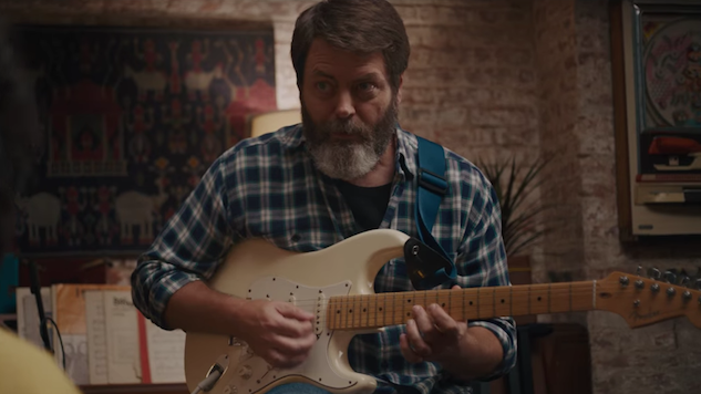 Nick Offerman Is the Most Adorable Indie Dad in this <i>Hearts Beat Loud</i> Music Video