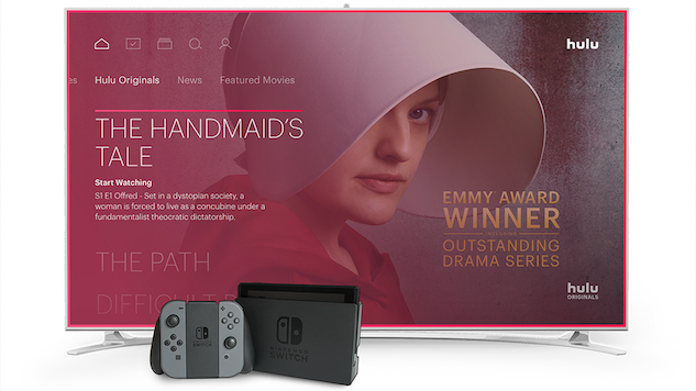 Hulu Is Arriving on Nintendo Switch Today