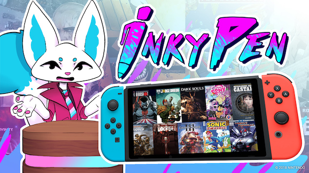 InkyPen Brings Comic Reading to the Nintendo Switch
