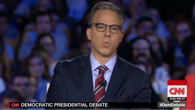 Jake Tapper Was a Contrarian Nightmare During Last Night's Democratic Debate