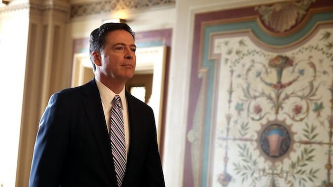 James Comey Once Employed His Stealth Training to Try and Blend in With Curtains and Avoid Trump