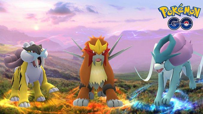 <i>Pokémon GO</i> Adds Johto Legendary Beasts
