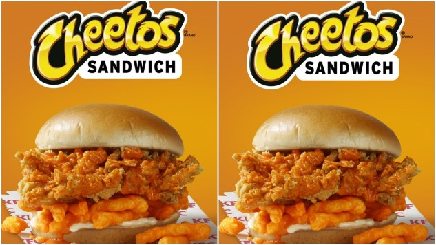 "KFC Apparently Thinks Mayo and Cheetos is a Great Combination on the new ""Cheetohs Sandwich"""