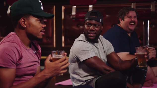 Watch Chance the Rapper and Kevin Hart Attempt Beer Yoga