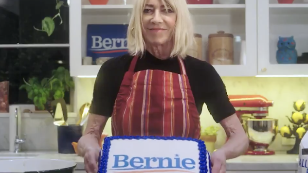 Watch Kim Gordon Bake for Bernie in Super Tuesday PSA
