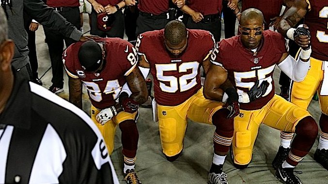 A Black Football Player Got Kicked Off His Team for Kneeling, and These White Facebook Commenters Are Lovin' It!