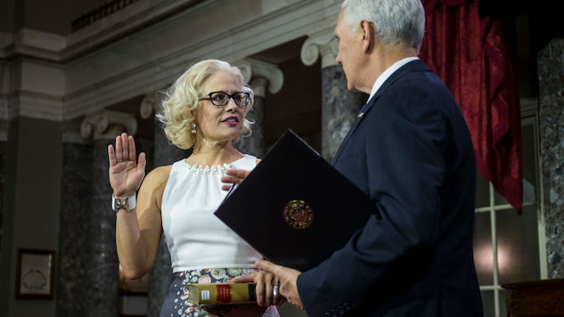 Kyrsten Sinema Sworn in Using Law Book Instead of Religious Text