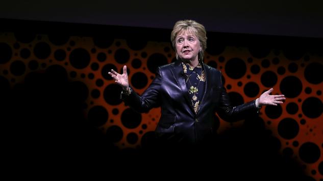 leather Hillary clinton