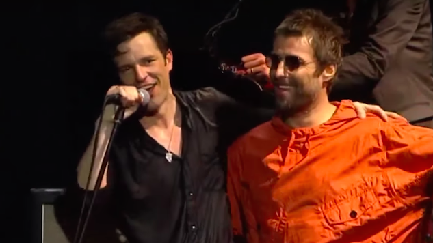 Watch Liam Gallagher Stage-Invade The Killers' Lollapalooza Brazil Set