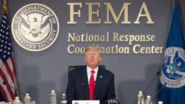 Image result for photos of trump in disaster areas of puerto rico florida and texas