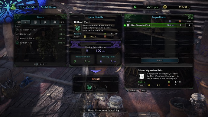 MHW Silver Wyverian Prints and the Elder Melder.jpg