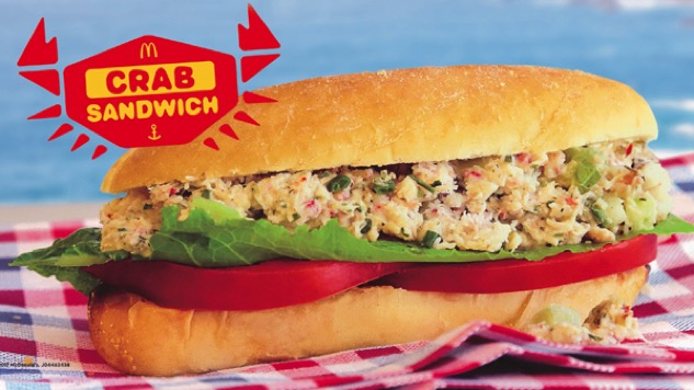 McDonald's Testing New Crab Sandwich, The Crabby Patty We Never Wanted