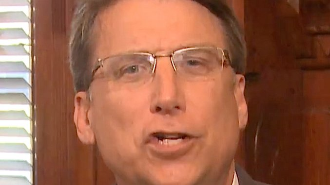North Carolina Governor Pat McCrory is a Lying, Hateful Doofus, and Also a Coward