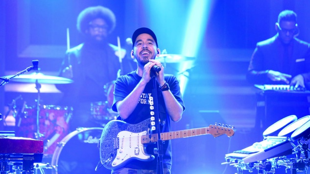 "Mike Shinoda Performs ""Crossing a Line"" with The Roots on <i>Fallon</i>"