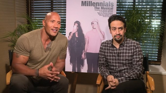 Watch Lin-Manuel Miranda and Dwayne Johnson Reveal Their New Production, Millennials: The Musical :: Movies :: Video :: Millennials: The Musical :: Paste