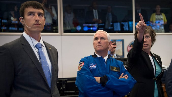 The Funniest Tweets About Mike Pence Touching NASA Equipment