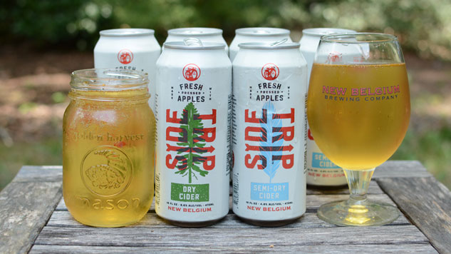 Drinking New Belgium's Side Trip Ciders