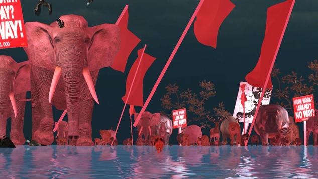 The Socialist Surrealist <i>Oikospiel</i> Has a Wild Vision for the Future of Videogame Labor