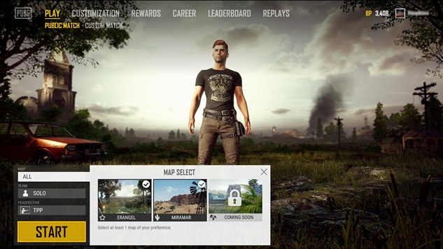 Soon You'll Be Able To Select A Map in PUBG