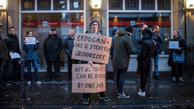 Anti-Erdogan Demonstration Outside Turkish Embassy Turns Violent