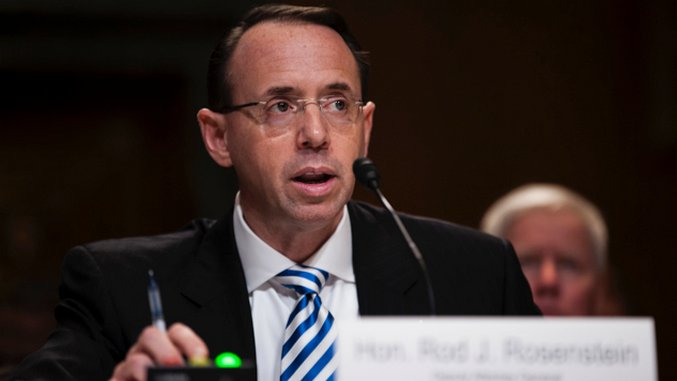 Rod Rosenstein, Who Actually Has a Bit of Integrity, Says He Won't Fire Mueller at Trump's Behest