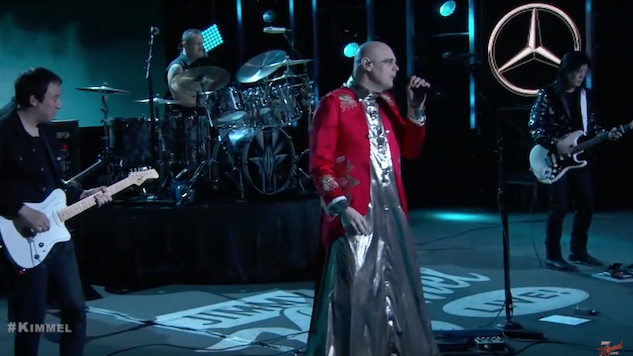 Watch Smashing Pumpkins Perform Two <i>Shiny and Oh So Bright</i> Tracks on <i>Kimmel</i>