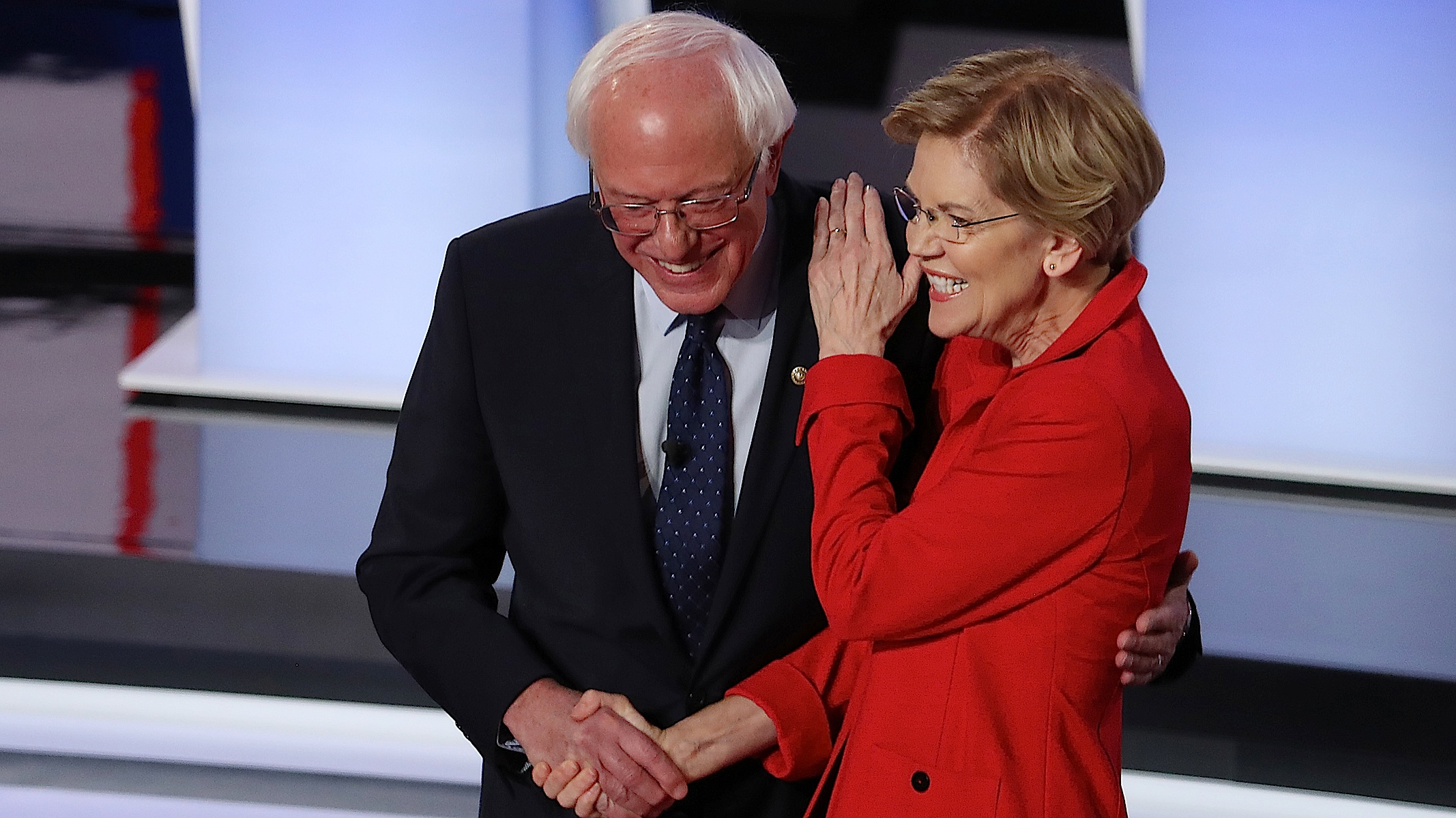 In Tuesday's Debate, Bernie and Warren Separated Themselves from the Yapping Crypto-Republican Dogs