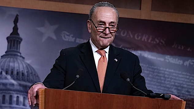 The Best Tweets About Chuck Schumer's Capitulation