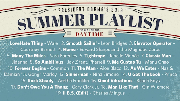 Obama Dropped Two Summer Playlists, Including Prince, Sara Bareilles, Chance the Rapper and More