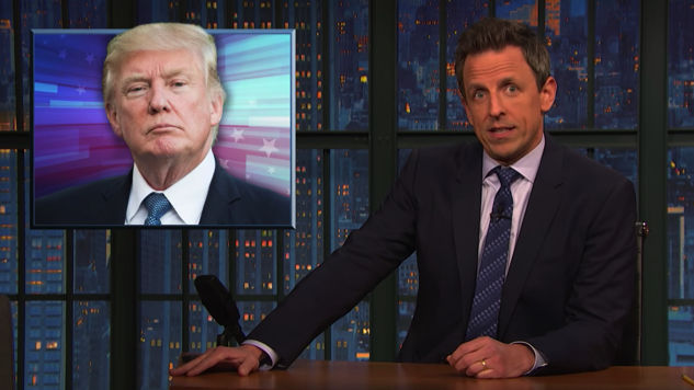 "Seth Meyers Criticizes Networks for Allowing Trump to ""Repeat His Lies"" During Primetime"
