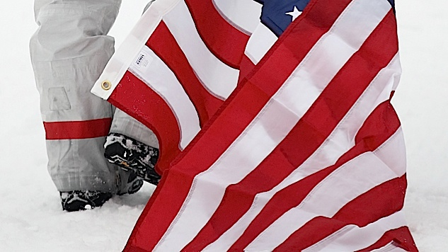 Twitter Conservatives Are Angry That Shaun White Dragged the American Flag in the Snow