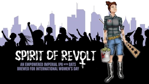 Check Out Revolution Brewing's International Women's Day Beer, Spirit of Revolt