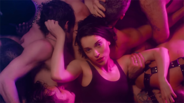 "Happy Pride! Here's St. Vincent Partying at a Gay Leather Club in Her ""Fast Slow Disco"" Video"