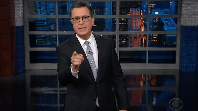 Stephen Colbert Goes Long on Kavanaugh Hearing in Two-Part Monologue