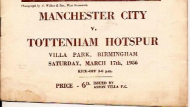 Throwback Thursday: Manchester City vs Tottenham Hotspur (March 17th, 1956)