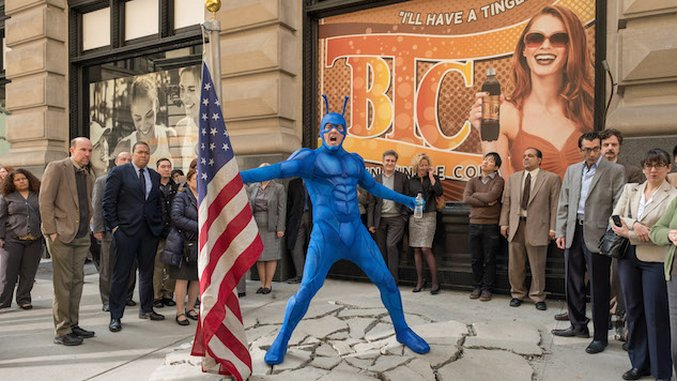<i>The Tick</i> Skewers Reboot Culture Run Amok, Even Though It's Part of It