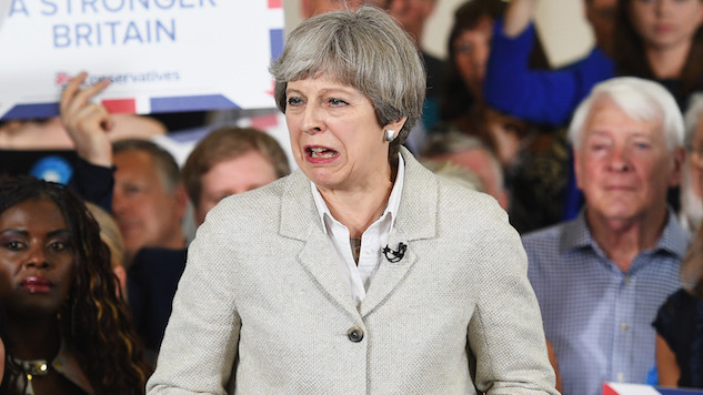 Anti-Theresa May Song That UK Radio Can't Play Hits Number One
