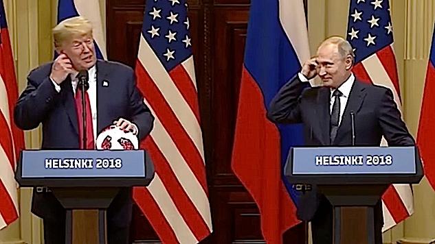 "Putin and Trump Try ""Soccer Diplomacy,"" Things Get Awkward"