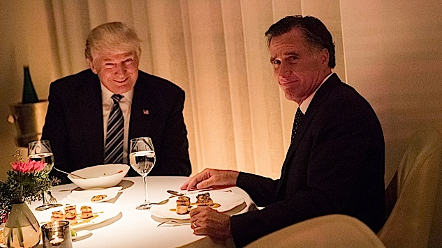 Mitt Romney Announces Exploratory Committee For His Own Spine, Attacks Trump
