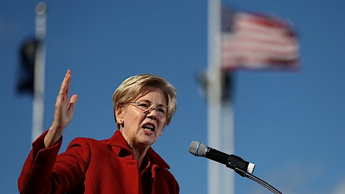 Elizabeth Warren Calls for Confederate Monuments to Be Taken Down