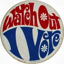 Image result for antique voting button