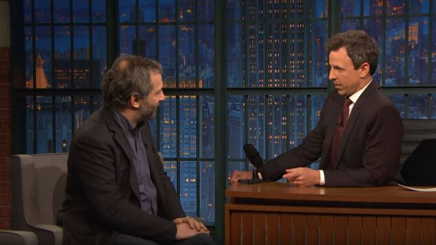 Read the Room, Judd: Apatow's <i>Seth Meyers</i> Appearance