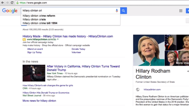 hillary cri google search