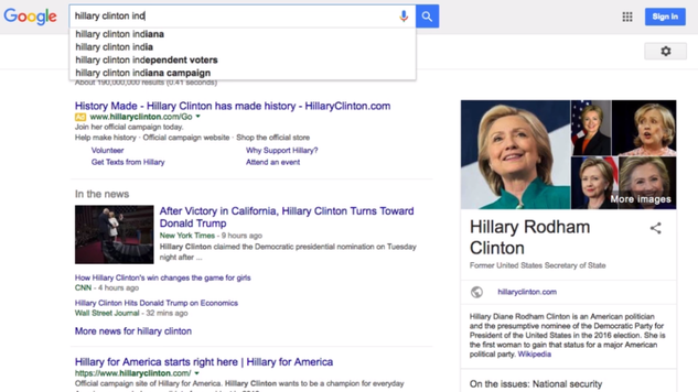 hillary indictment google search