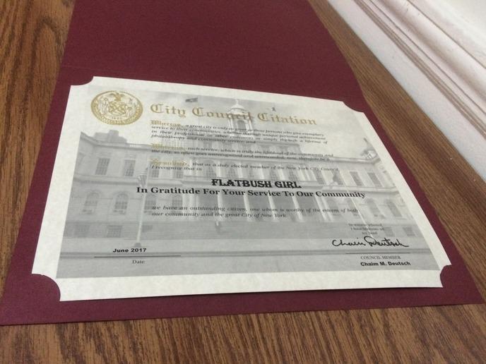 flatbushgirl certificate.JPG