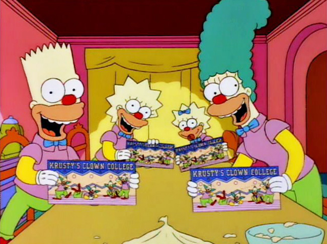 Cooking the simpsons circus tent mashed potatoes - Clown simpson ...