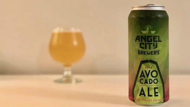 Drinking Avocado Ale (and Double IPA) from Angel City Brewery