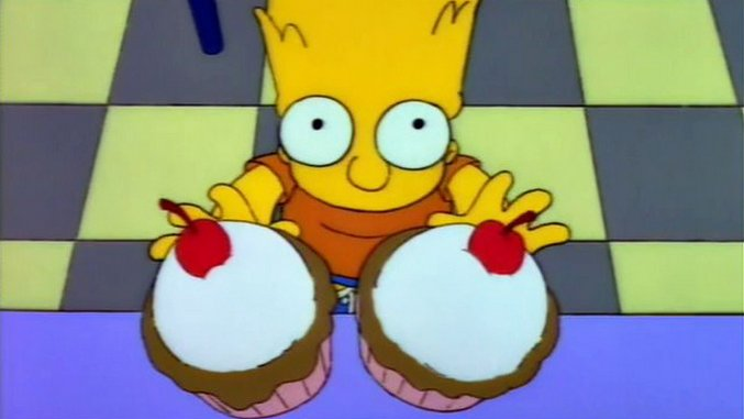 Cooking <i>The Simpsons</i>: Chocolate-Cherry Experiment Cupcakes